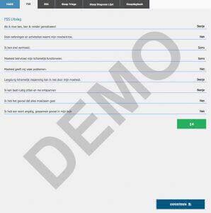 FSS Uitslag demo pagina